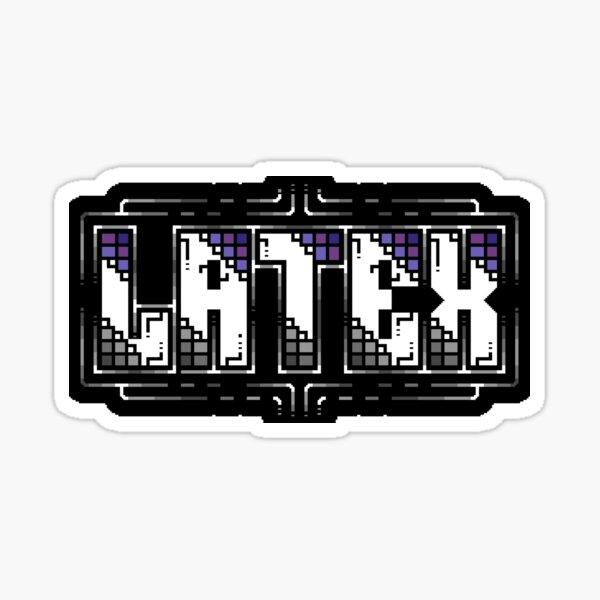 Latex Petscii Flummlogo Sticker