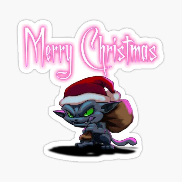 Grinch Cat design Sticker