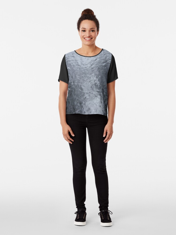 Alternate view of Two Icy Trees Chiffon Top