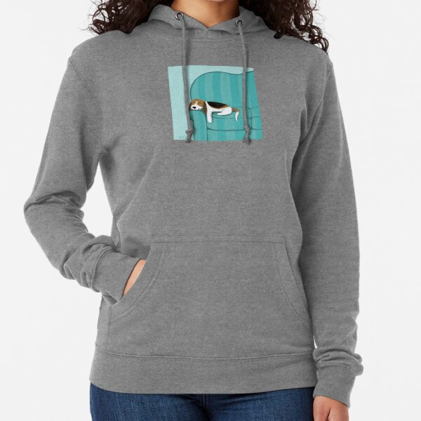 Happy Couch Dog | Cute Beagle Lightweight Hoodie