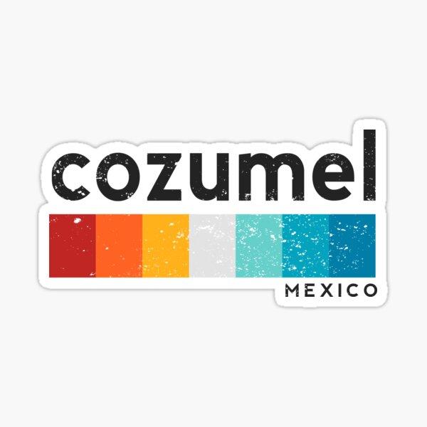Vintage Cozumel Mexico Retro Design Sticker