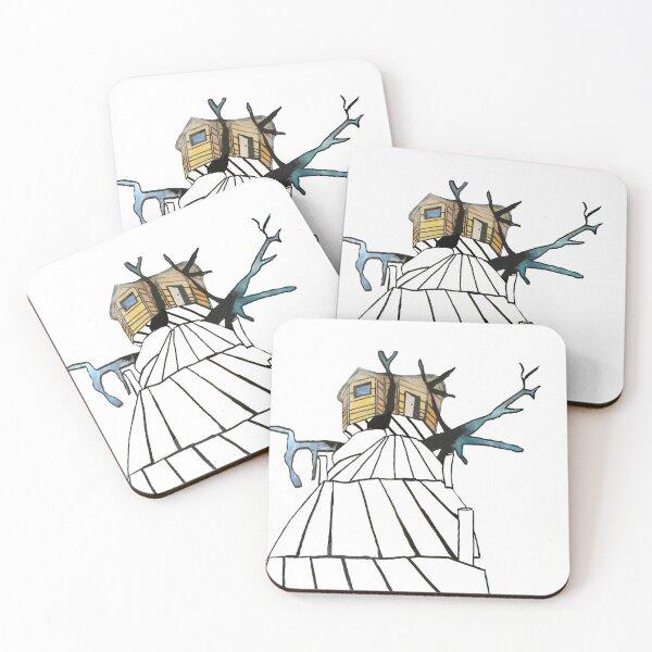 Limageecrite Baobab Tree Hut Coasters (Set of 4)