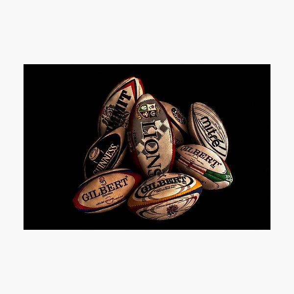Pelotas de rugby Lámina fotográfica