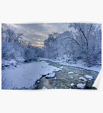 Mimico Creek After Snow Poster