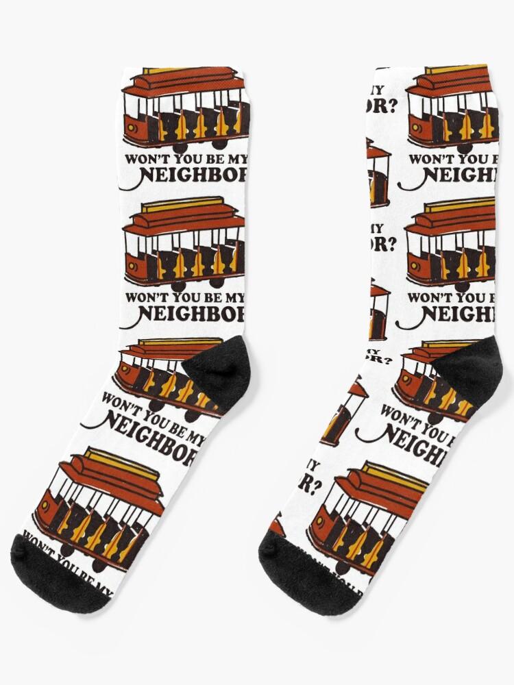 fred rogers mister roger/'s pbs gift retro Rogers Socks Mr
