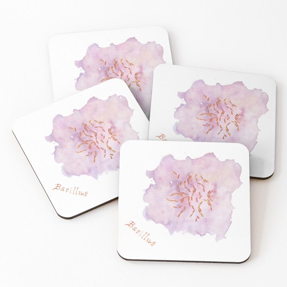 Bacillus Art Prints Coasters (Set of 4)