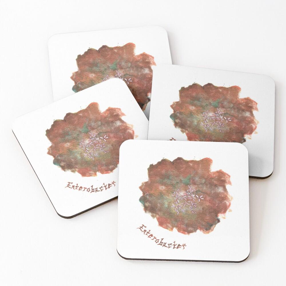 Enterobacter Art Prints Coasters (Set of 4)