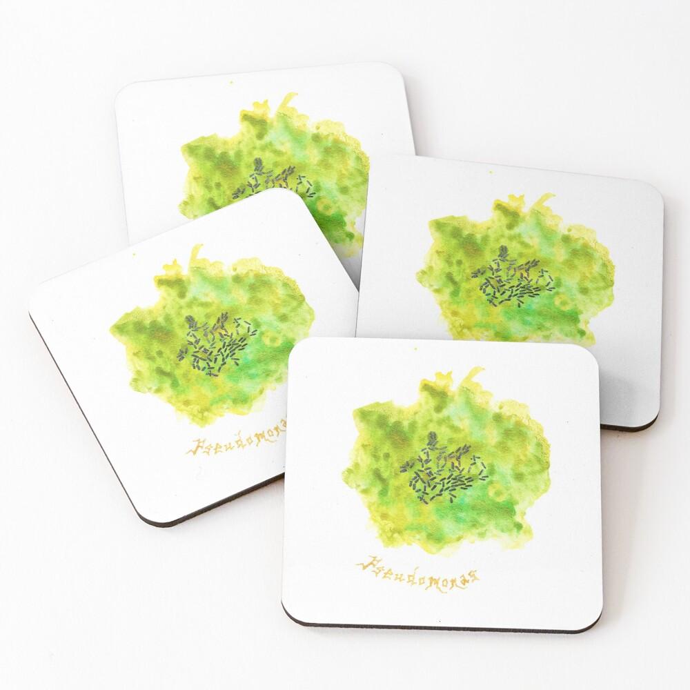 Pseudomonas Art Prints Coasters (Set of 4)