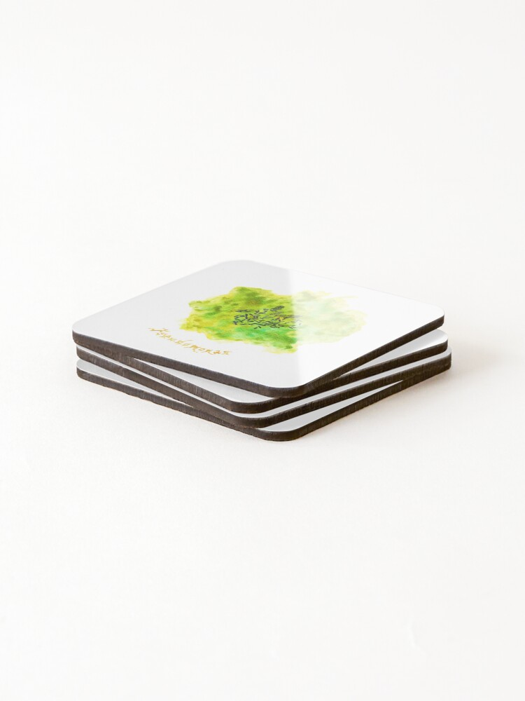 Alternate view of Pseudomonas Art Prints Coasters (Set of 4)