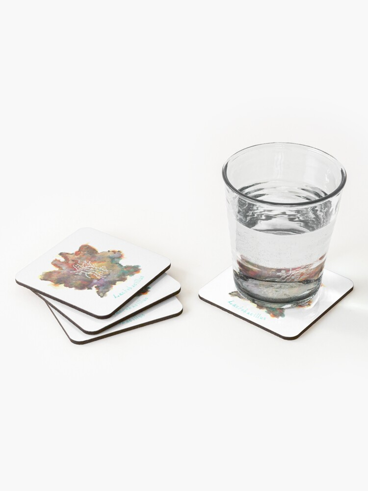 Alternate view of Lactobacillus Art Prints Coasters (Set of 4)