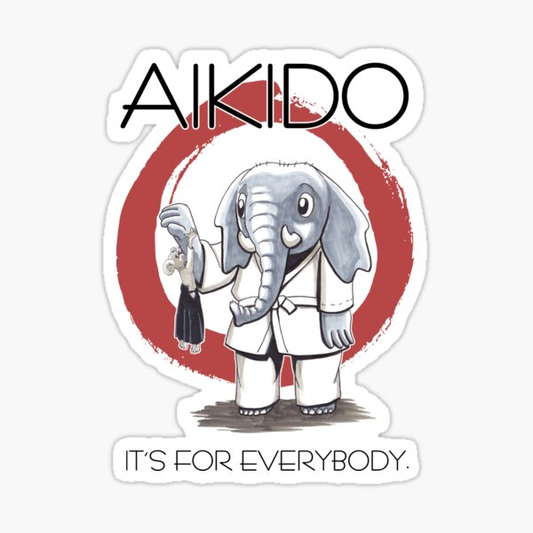 Aikido - it's for everybody (weiss) Sticker