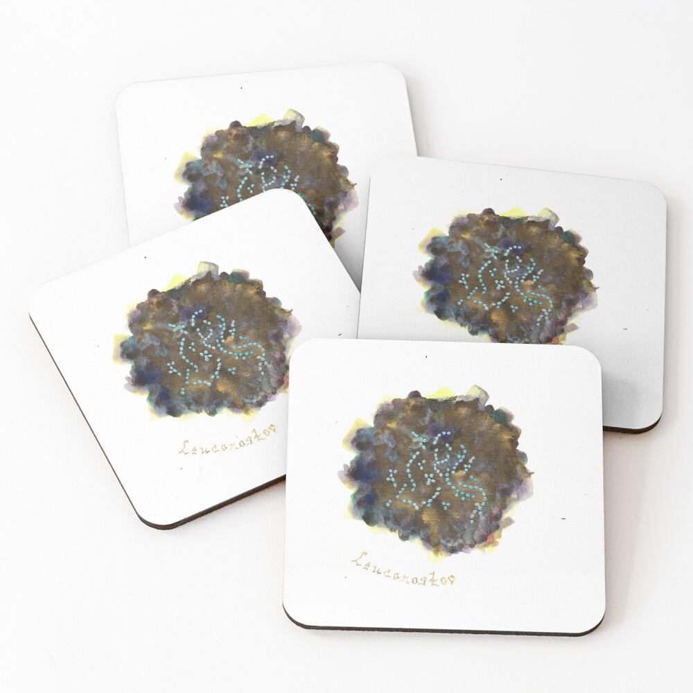 Leuconostoc Art Prints Coasters (Set of 4)
