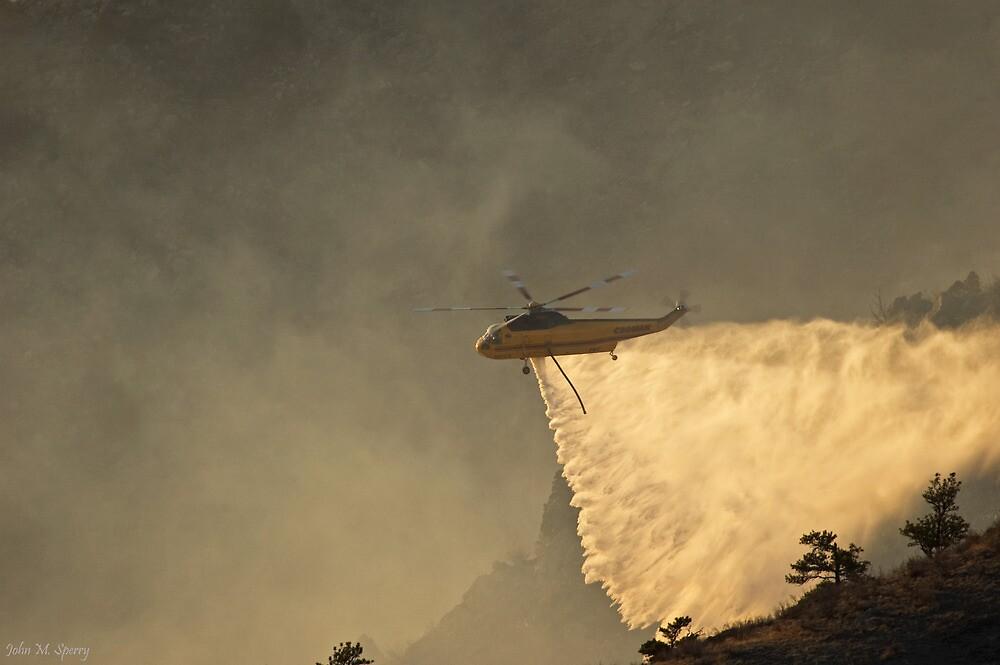 Wildfire water drop by John  Sperry