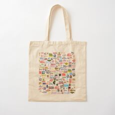 Musical Logos (Cases, Duvets, Books, Clothes etc) Cotton Tote Bag