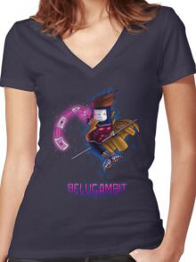 BeluGambit  Women's Fitted V-Neck T-Shirt