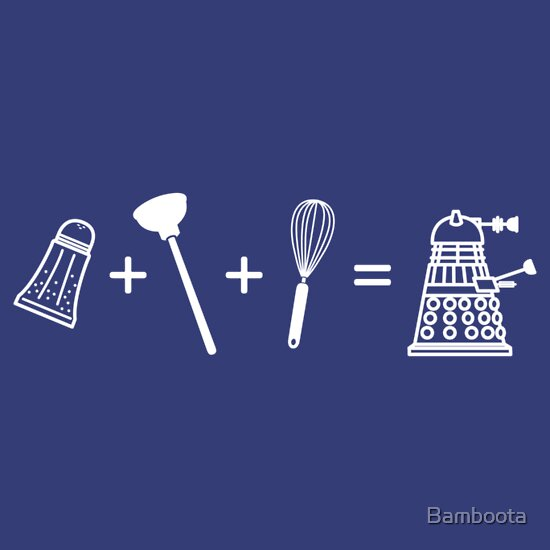 TShirtGifter presents: Shaker + Plunger + Whisk = EXTERMINATE!