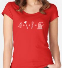 Shaker + Plunger + Whisk = EXTERMINATE! Women's Fitted Scoop T-Shirt