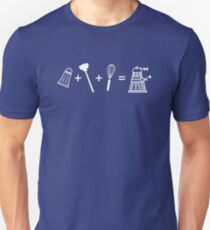 Camiseta unisex Shaker + Plunger + Whisk = ¡EXTERMINATE!
