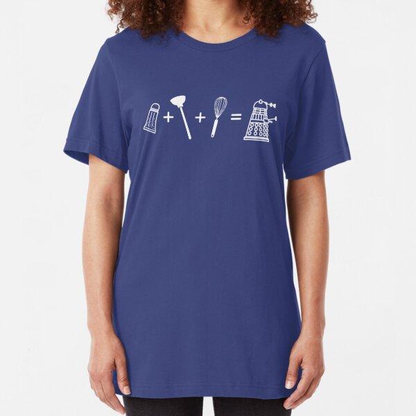 Shaker + Plunger + Whisk = EXTERMINATE! Slim Fit T-Shirt