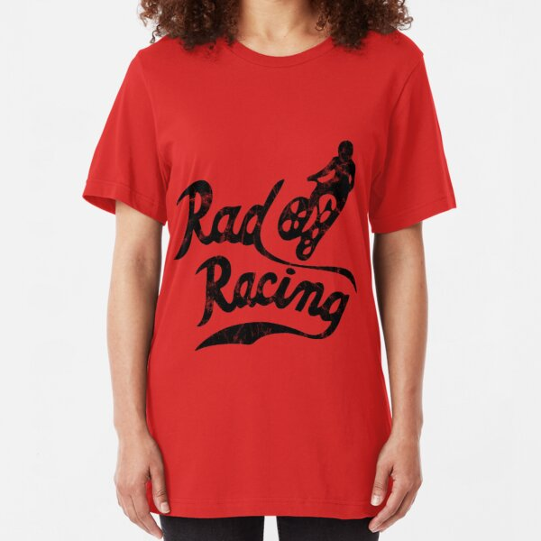 Rad Racing distressed design Slim Fit T-Shirt