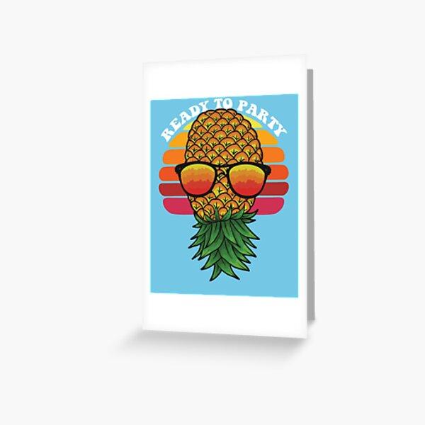Pinneaple Art Gift For Swingers Greeting Card
