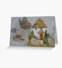 Miniature Cottage Greeting Card