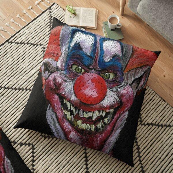 K is for Killer Clown  Floor Pillow