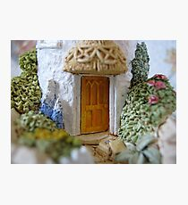 Miniature Cottage threshold Photographic Print