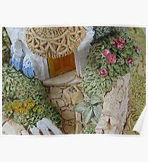 Miniature Cottage _ Garden detail Poster