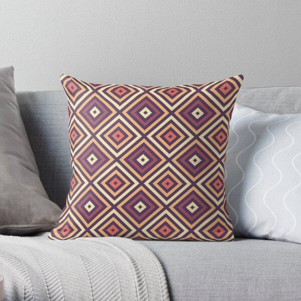 Diamonds - Purple, Yellow, Orange Throw Pillow