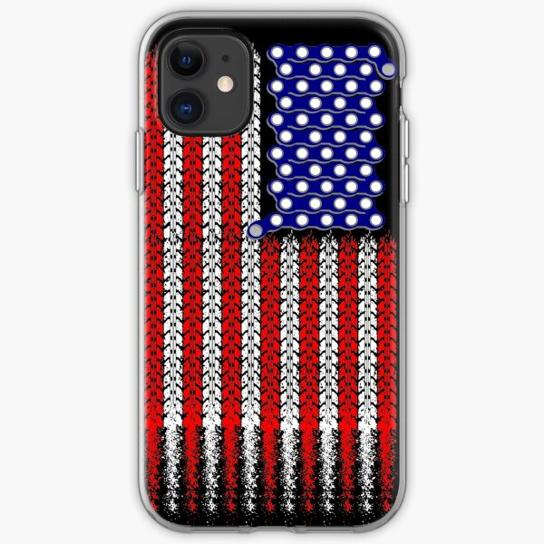 Bike USA Flag iPhone Soft Case