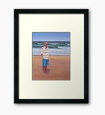 Simon by the Sea Framed Print