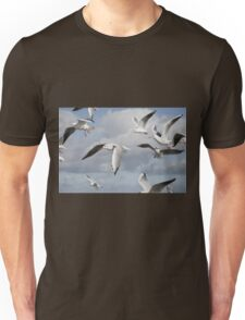 Flying Seagulls Unisex T-Shirt