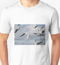 Flying Seagulls T-Shirt