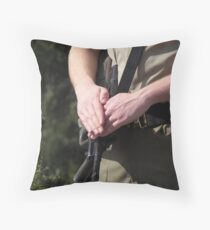 A sentry at the Cenotaph Throw Pillow