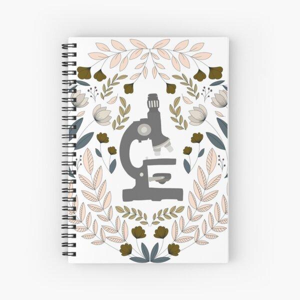 Gray Folk Microscope Spiral Notebook