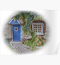 Miniature Cottage #2 Welcome Poster