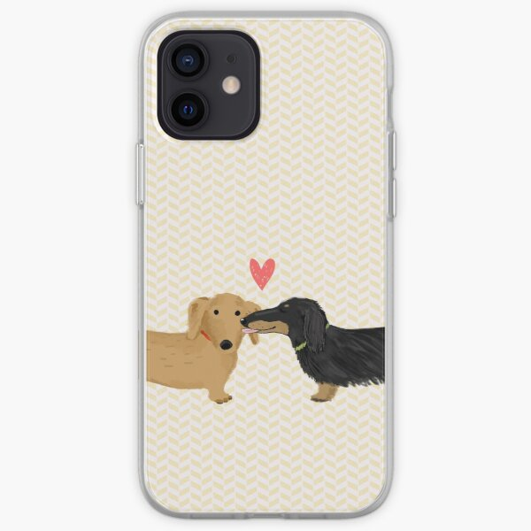 Amor Dachshunds Funda blanda para iPhone