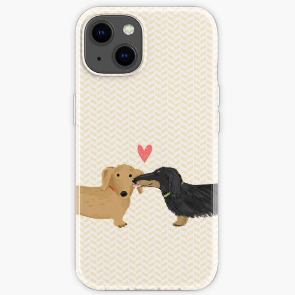Dachshunds Love iPhone Soft Case