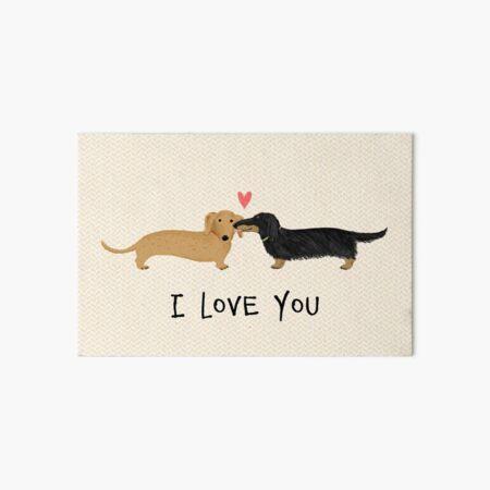 Dachshunds Love Art Board Print