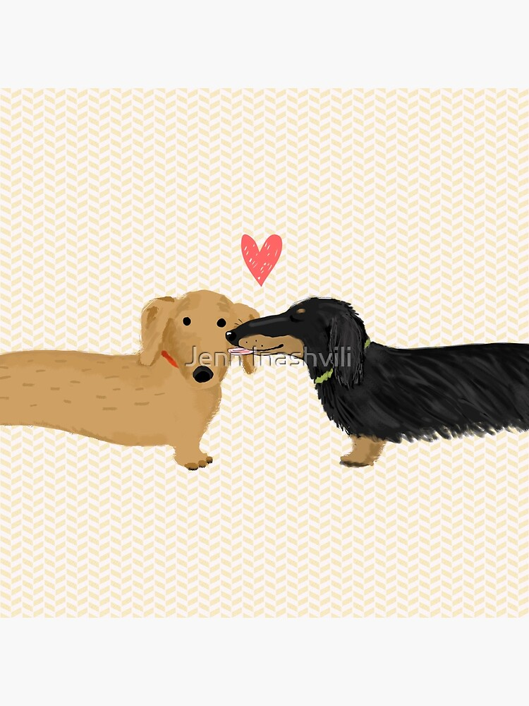 Dachshunds Love by ShortCoffee