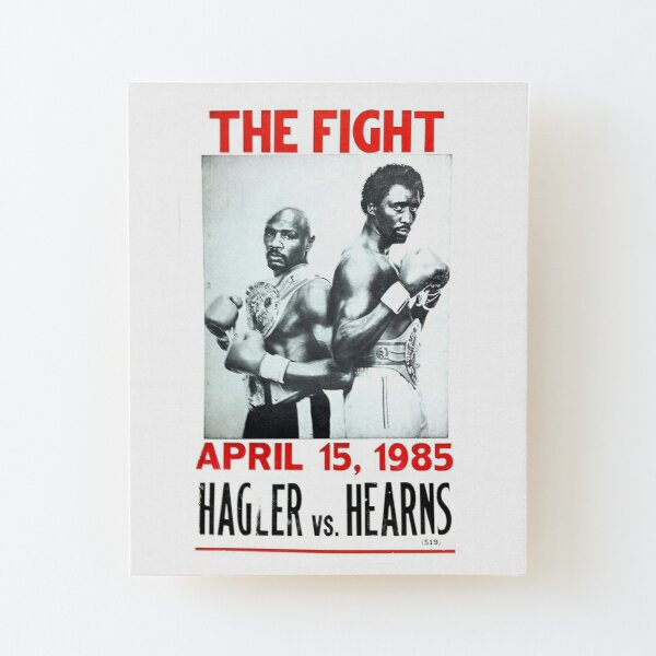 Boxing and Boxers: 1985 Mega Middleweight Fight Wood Mounted Print