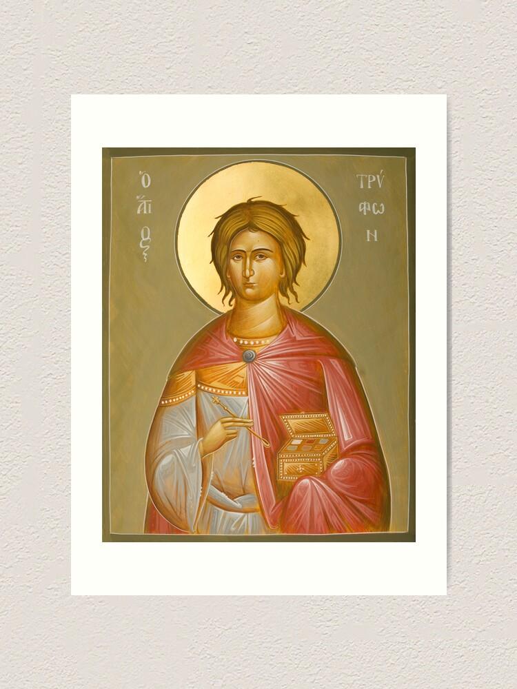 Alternate view of St Tryphon Art Print