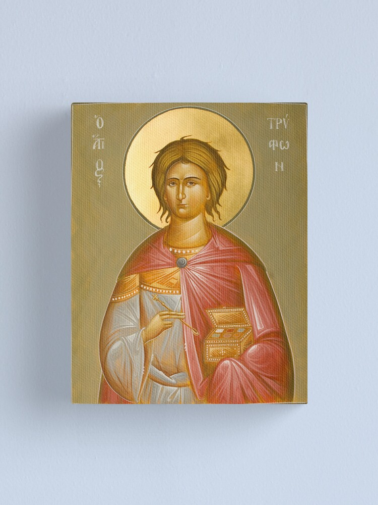 Alternate view of St Tryphon Canvas Print
