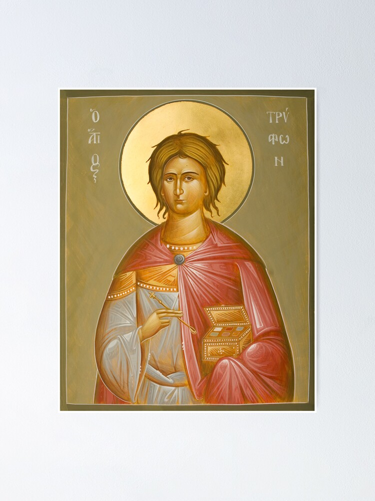 Alternate view of St Tryphon Poster