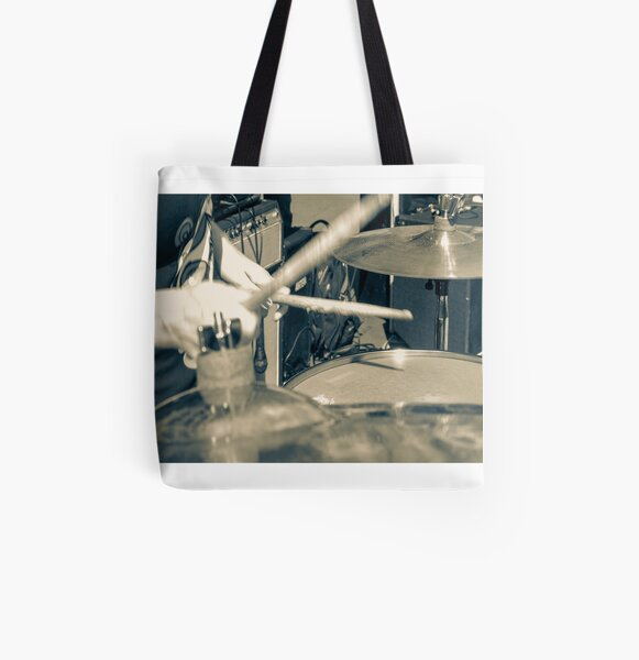 drums e drumsticks All Over Print Tote Bag