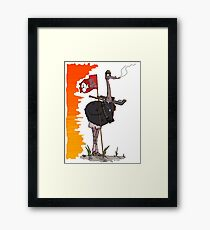 """The """"Save Our Eggs!!!"""" Ostrich Framed Print"""
