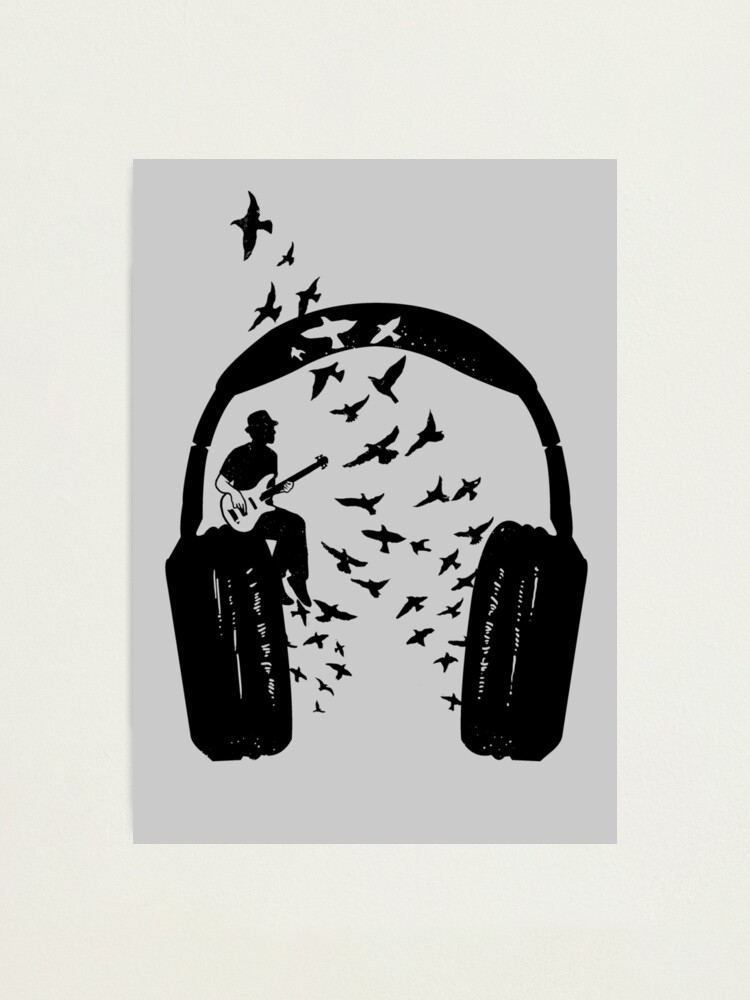 Alternate view of Headphone - Bass guitar Photographic Print