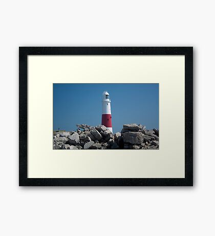 Portland Bill Lighthouse Framed Print