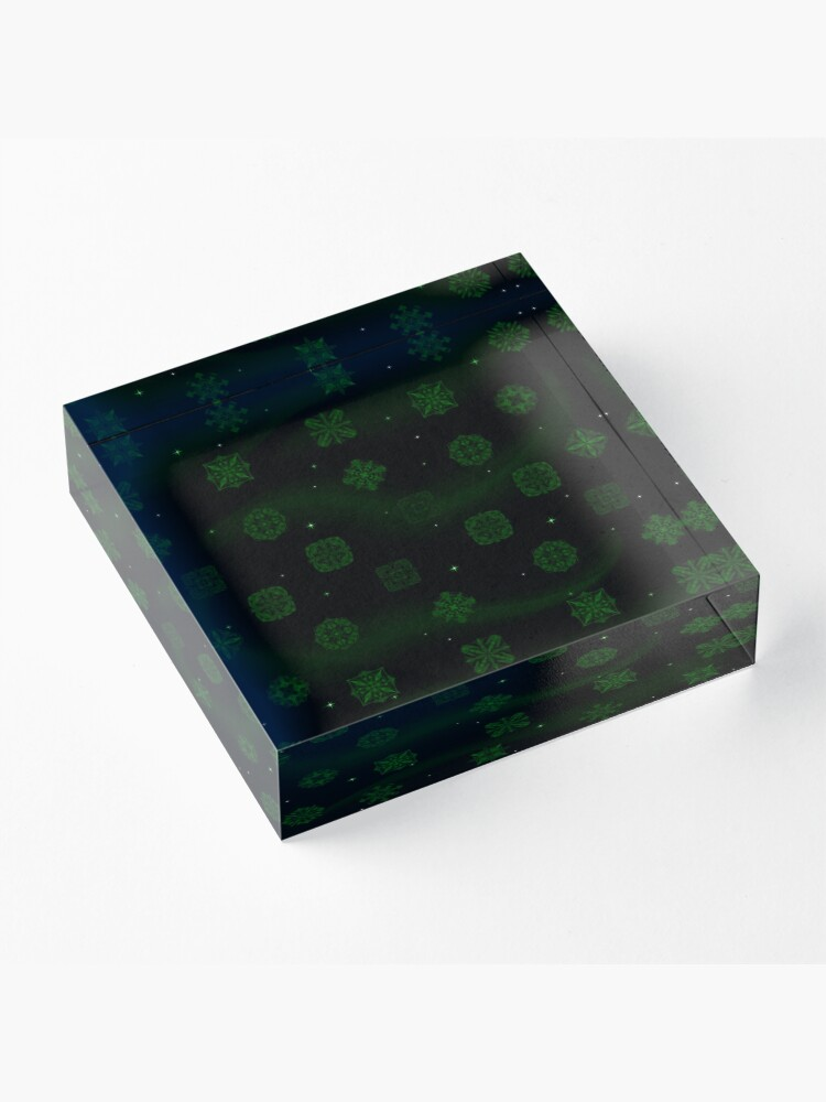 Alternate view of Dark Jungle Gems Acrylic Block